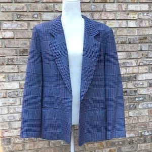 Pendleton 100% wool blue tweed blazer, women's 16